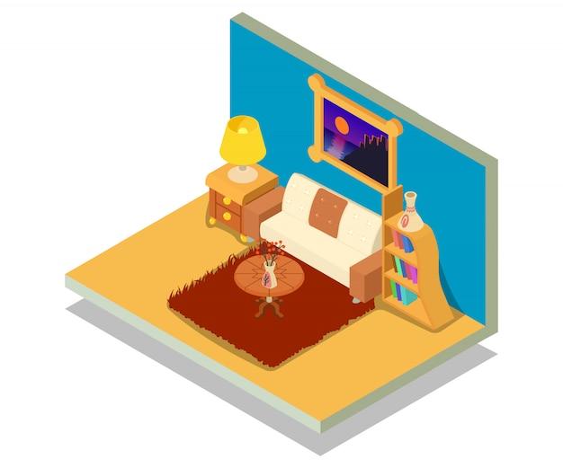 Wohnzimmer-konzeptszene