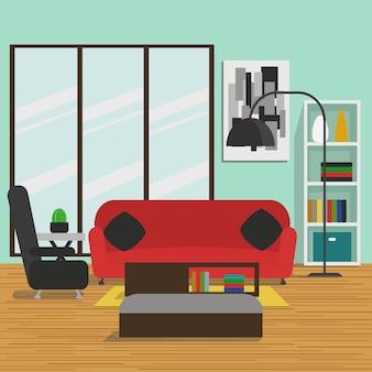 Wohnzimmer mit möbeln