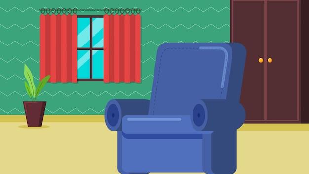 Wohnzimmer mit und schrankcouchhintergrund