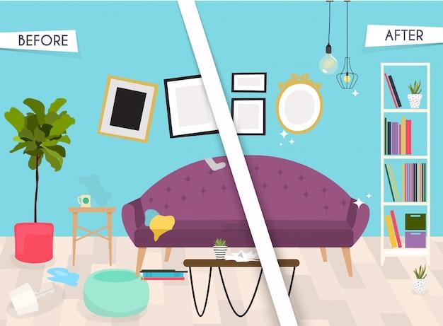 Wohnzimmer. möbel und wohnaccessoires, einschließlich sofas, liebessitz, sessel, couchtisch, beistelltische und heimdekoration.
