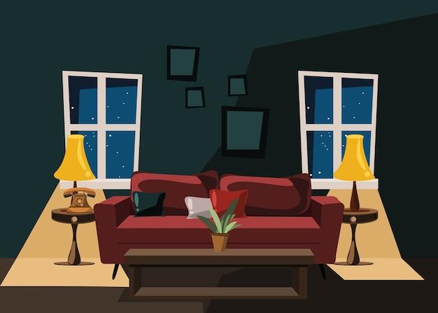Wohnzimmer-vektor-illustration