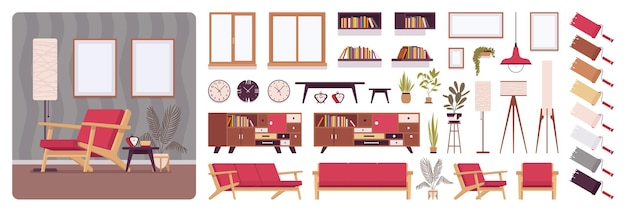 Wohnzimmer volles zuhause innenarchitektur