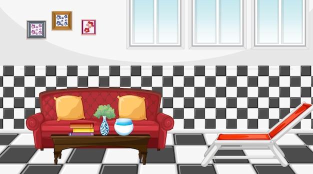 Wohnzimmereinrichtung mit möbeln