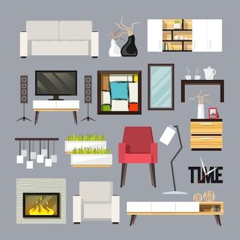 Wohnzimmermöbel set