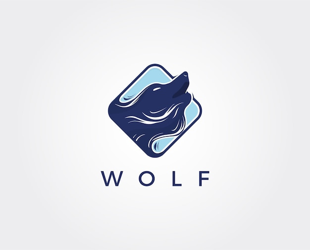 Wolf abstrakte logo-vorlage. einfacher flacher stil.