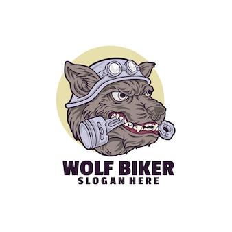 Wolf biker logo vorlage