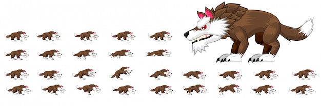 Wolf charakter sprites