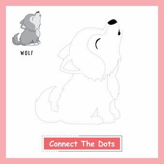 wolf connect the dots arbeitsblatt wild dog