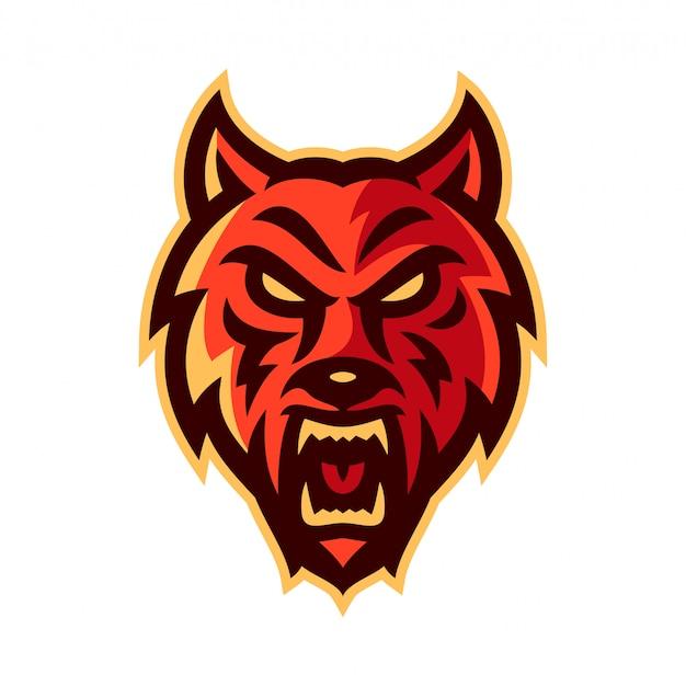 Wolf esport logo maskottchen