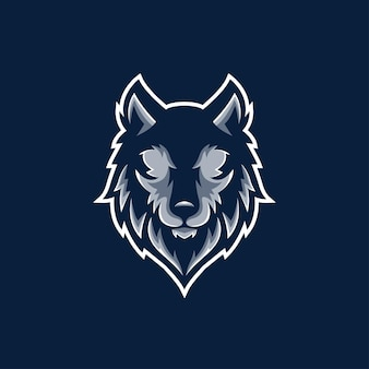 Wolf gaming wütendes charaktergesicht