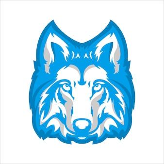 Wolf head charakter für esport gaming-logo