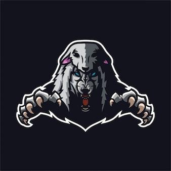 Wolf in schafskleidung maskottchen logo