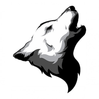 Wolf kopf vektor