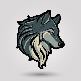 Wolf kopf zeichen