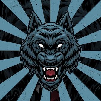 Wolf kunstwerk illustration