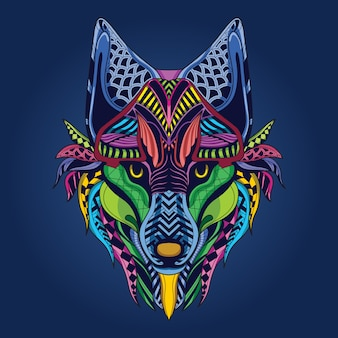 Wolf kunstwerk
