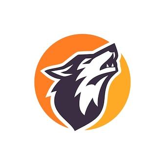 Wolf logo lager vektor
