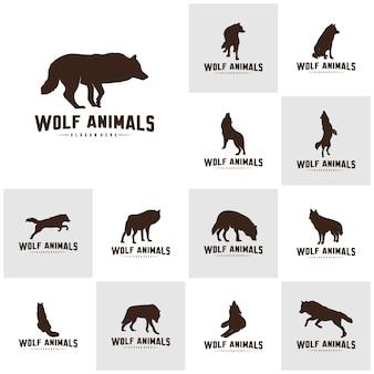 Wolf logo vorlage.