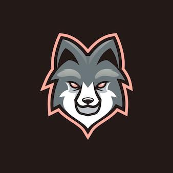 Wolf maskottchen esport design