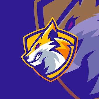 Wolf maskottchen log