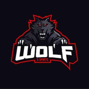 Wolf maskottchen logo design