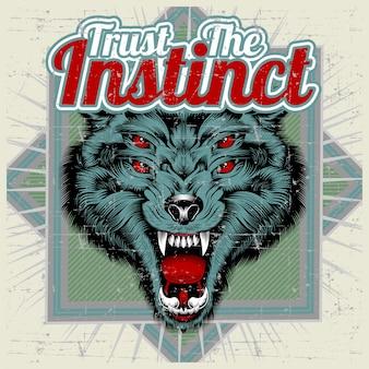 Wolf und brief vertrauen dem instinkt