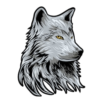 Wolf-vektor-illustration isoliert