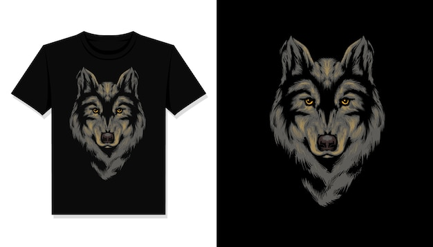 Wolfskopf illustration t-shirt