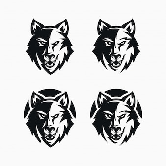 Wolfskopf-logo-set