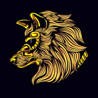 Wolfskopf mit maske