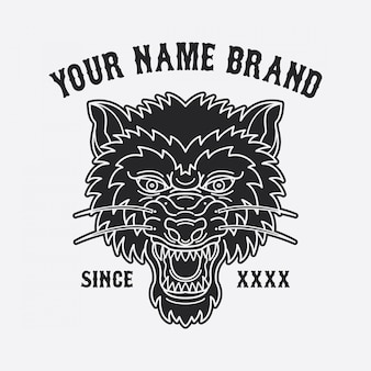 Wolfskopf tattoo design