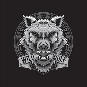 Wolfskopfillustration