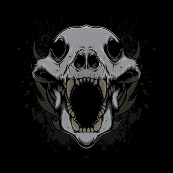 Wolfskopfschädel
