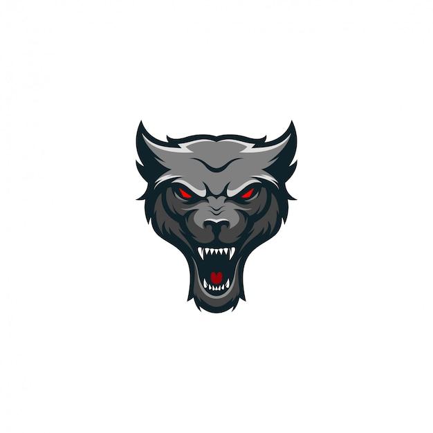 Wolfslogo design kostenlos