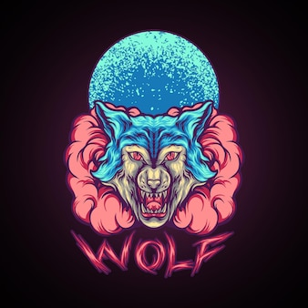 Wolfstier mit rauch