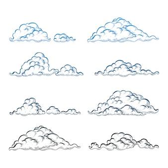 Wolke auf weiß gesetzt