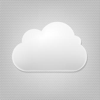 Wolke mit grauem hintergrund