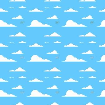 Wolke über blauem hintergrund-himmel-nahtlosem muster