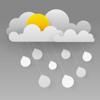 Wolke und regen