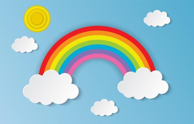 Wolke und regenbogen