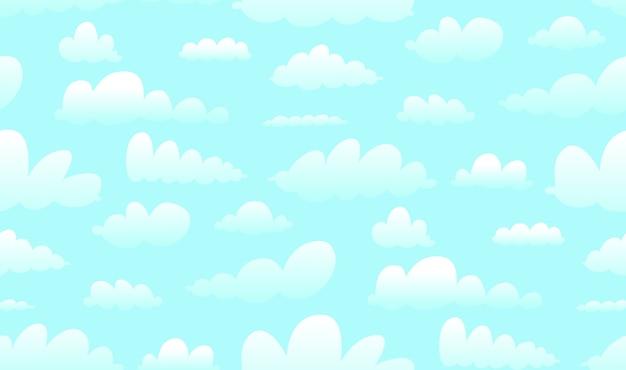 Wolken auf abstraktem hintergrund des blauen himmels im karikaturstil.