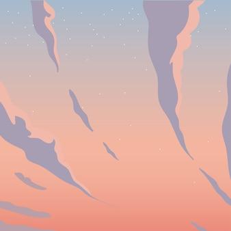 Wolken auf lila und rosa himmel design, landschaft naturumgebung und outdoor-thema
