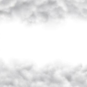 Wolken auf weißem hintergrund