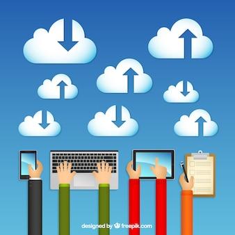 Wolken-computing-konzept