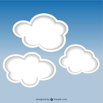 Wolken hintergrund vektor