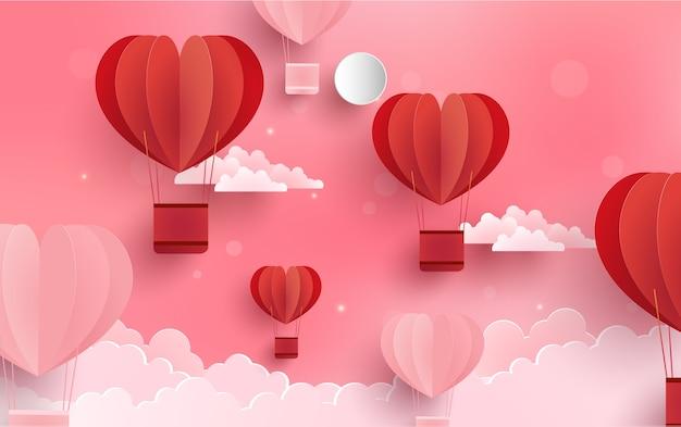 Wolken und heißluftballons