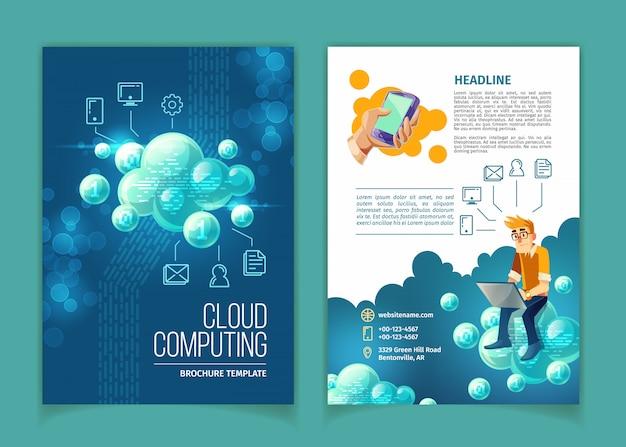 Wolkendatenverarbeitung, globaler datenspeicher, moderne internet-technologievektor-konzeptillustration.