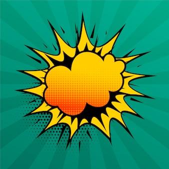 Wolkenexplosions-comicartsprache-effekthintergrund