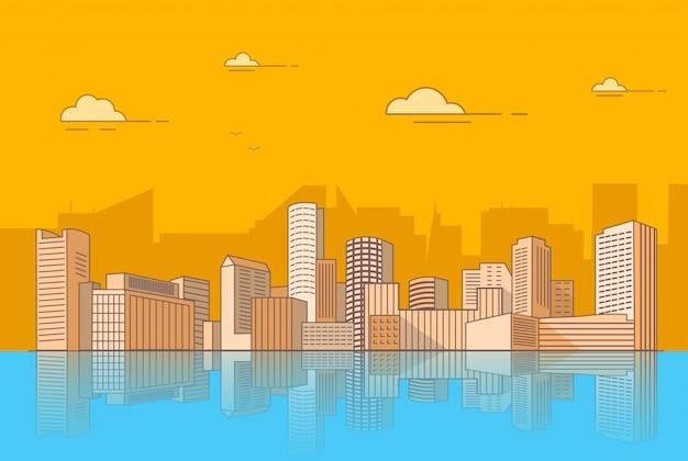 Wolkenkratzer der skyline von boston und hochhäuser usa.