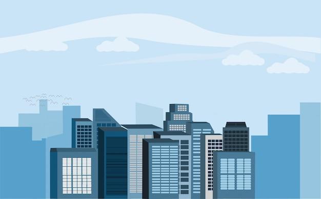 Wolkenkratzer in der stadt